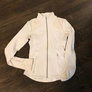 Lululemon- white and cream zip up- gently used.